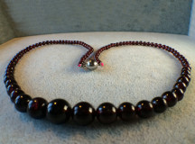 Granat halsband 004